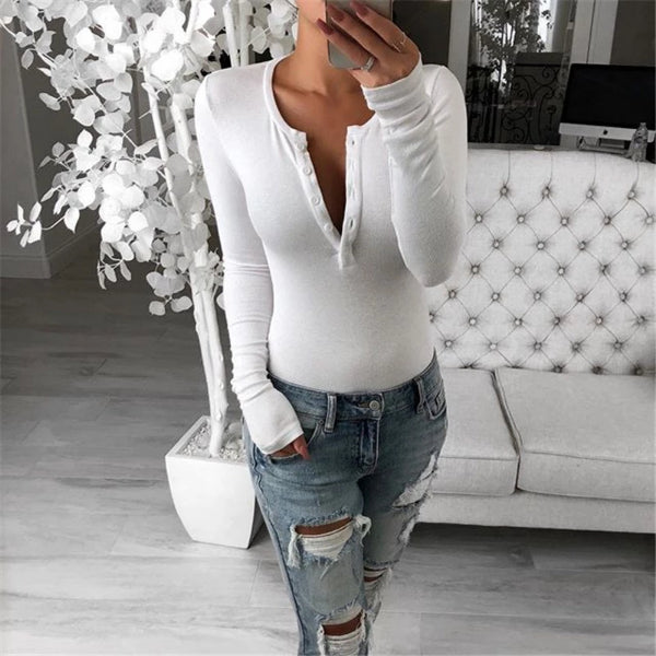 Casual Henry Collar Long Sleeve T-shirt