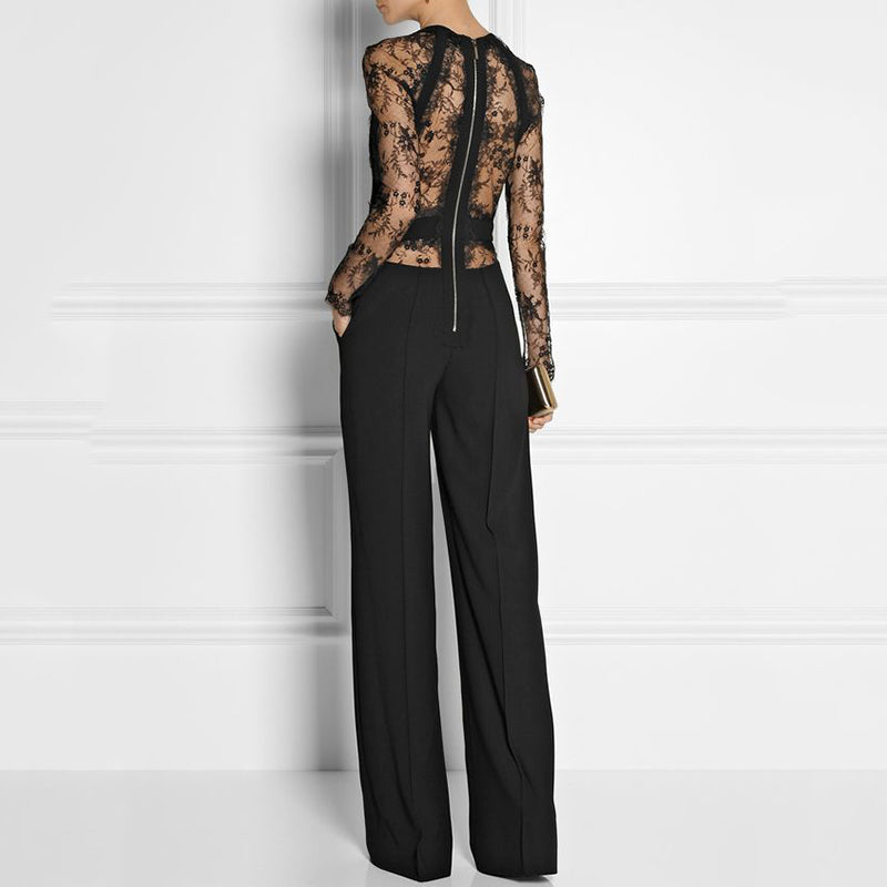 Women's Commuter Back Zip Print Jumpsuit