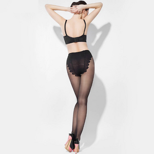 Sheer Indestructible Stockings - 15D Butterfly