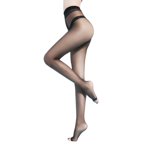Sheer Indestructible Stockings - 15D Open Toes