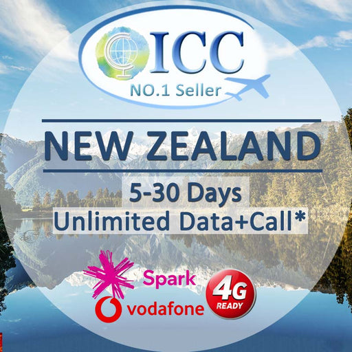ICC- 【New Zealand 5-30 Days】Data + Call* Plan