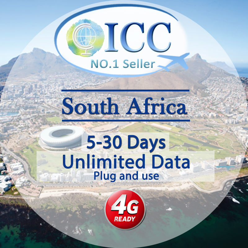 ICC SIM Card - South Africa 5-30 Days Unlimited Data