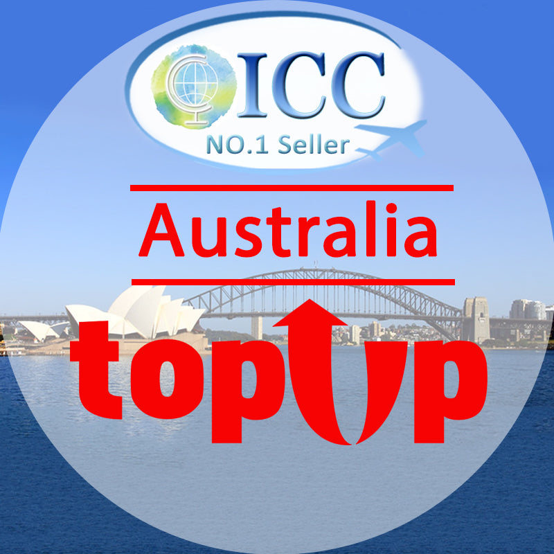 ICC-Top Up- Australia 5-20 Days Unlimited Data