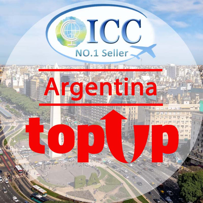 ICC-Top Up- Argentina 1- 30 Days Unlimited Data