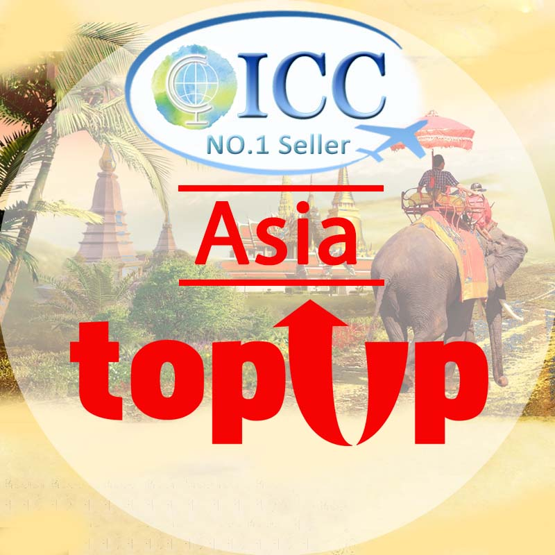 ICC-Top Up-【Asia 1- 30 Days】Unlimited data Plan