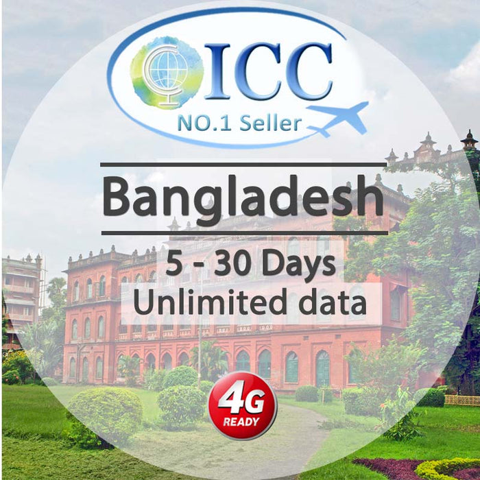 ICC SIM Card - Bangladesh 5-10 Days Unlimited Data