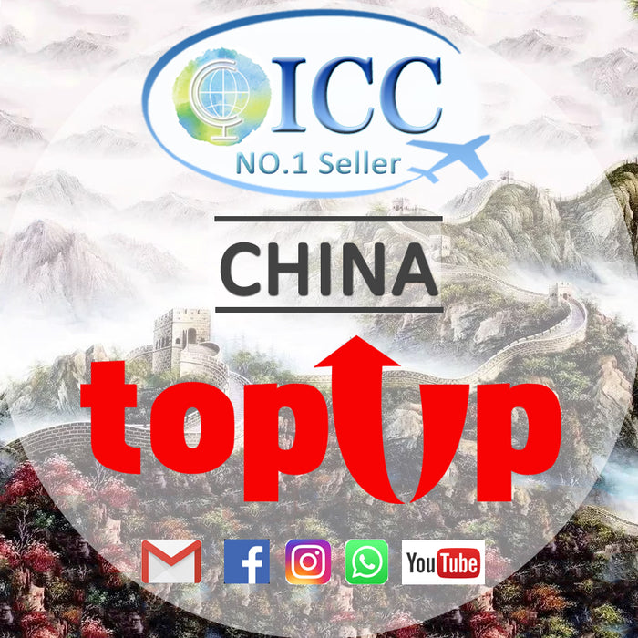 ICC-Top Up- China+HK+Macau 3- 30 Days Unlimited Data