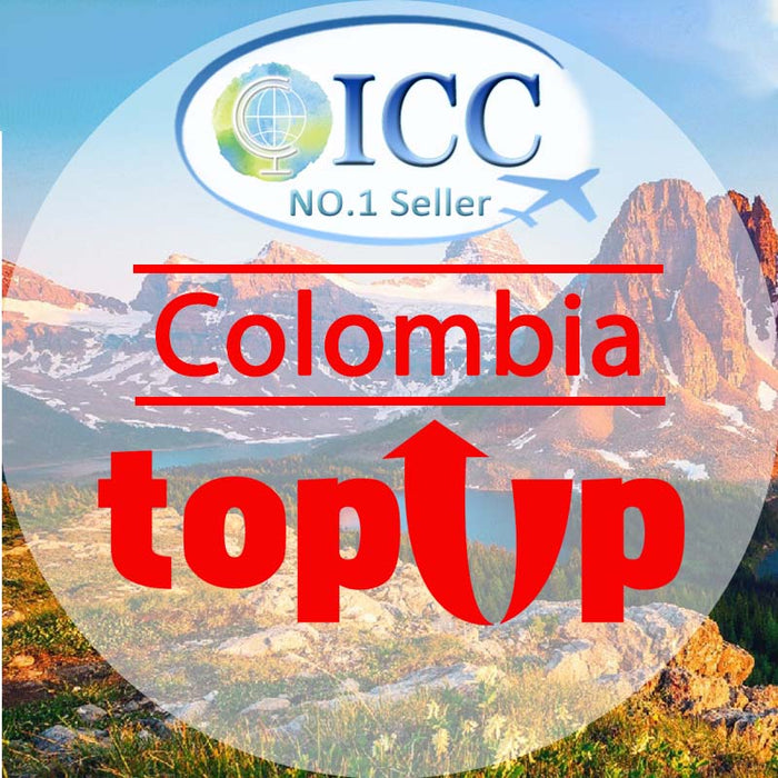 ICC-Top Up- Colombia 1- 30 Days Unlimited Data