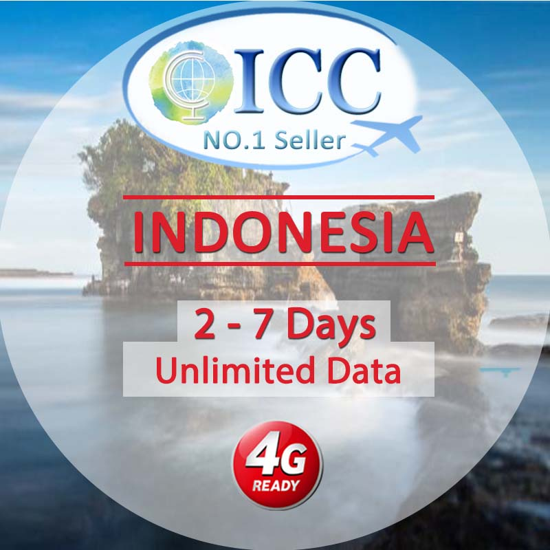 ICC SIM Card - Indonesia 4-7 Days Unlimited Data (Daily 3) - Telkomsel