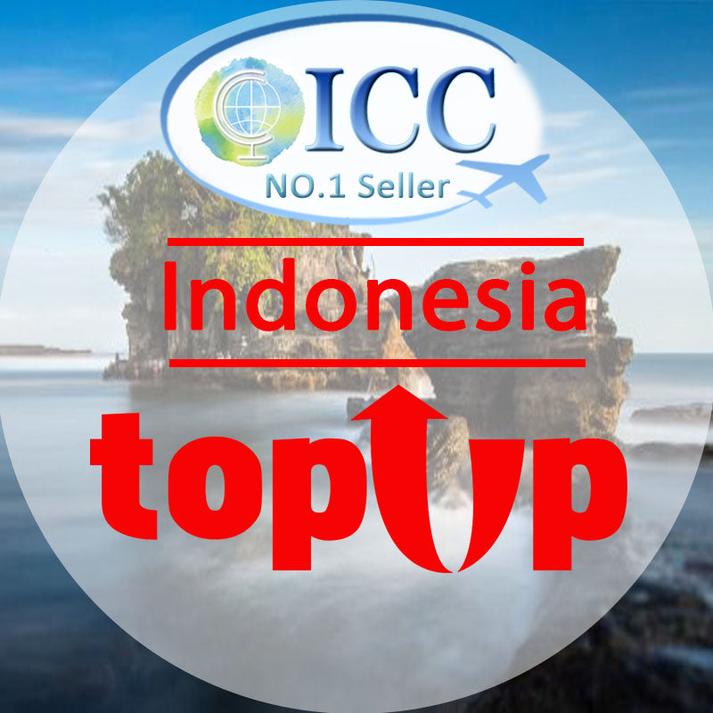 ICC-Top Up- Indonesia 3-10 Days Unlimited Data