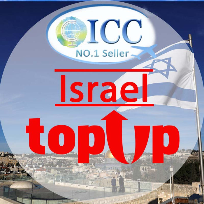 ICC-Top Up- Israel 1- 30 Days Unlimited Data