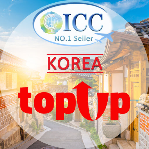 ICC-Top Up- Korea 3- 30 Days Unlimited Data