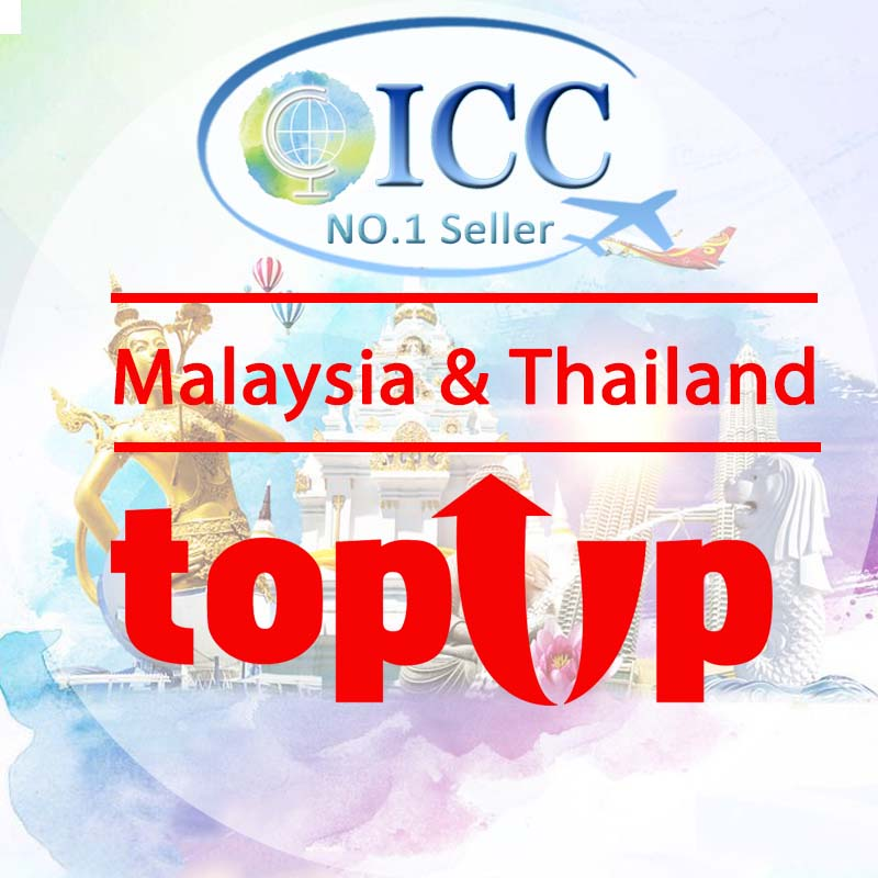 ICC-Top Up- Malaysia & Thailand 3-10 Days Unlimited Data