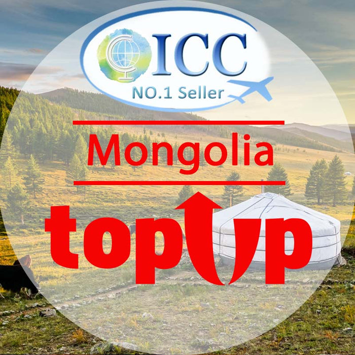 ICC-Top Up-【Mongolia 1- 30 Days】Unlimited data Plan