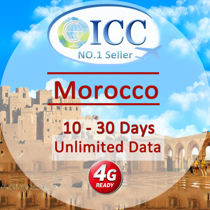 ICC SIM Card - Morocco 10-30 Days Unlimited Data