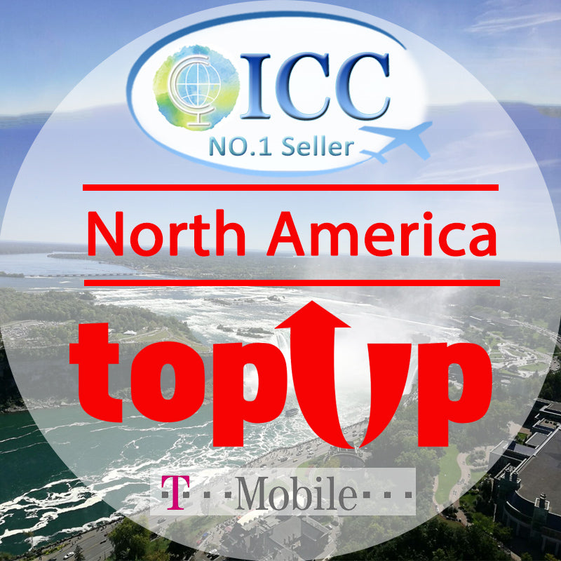 ICC-Top Up-North America 5- 30 Days Unlimited 4G Data + Local Call + International Call - T-Mobile