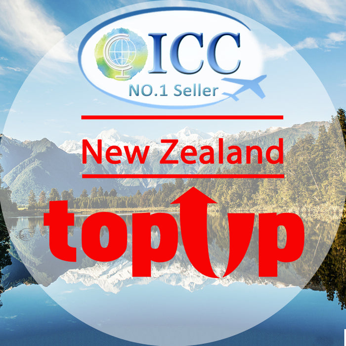 ICC-Top Up- New Zealand 5-20 Days Unlimited Data