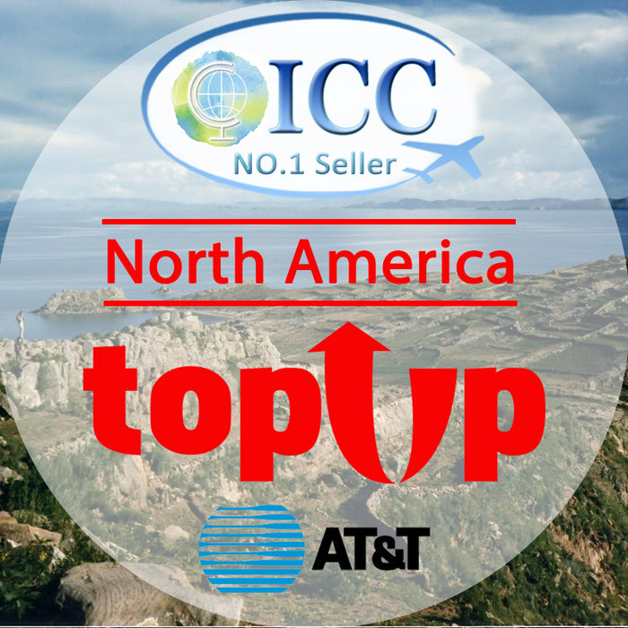 ICC-Top Up- North America 7- 30 Days Unlimited 4G data + Local Call - AT&T
