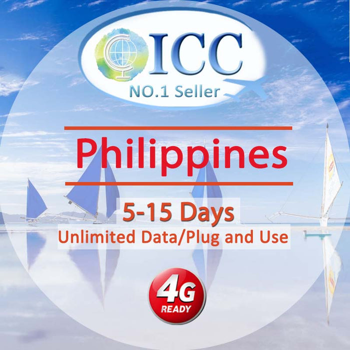 ICC【Philippines Sim Card · 5-15 Days】Unlimited Data