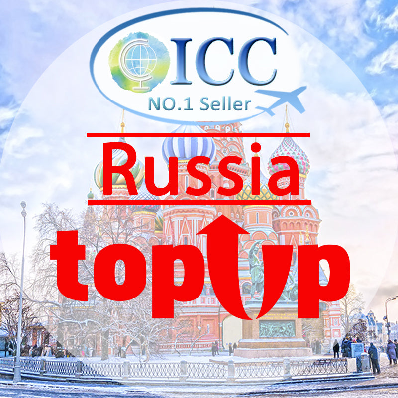 ICC-Top Up-【Russia 1- 30 Days】Unlimited data Plan
