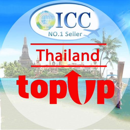ICC-Top Up- Thailand 3-10 Days Unlimited Data Plan