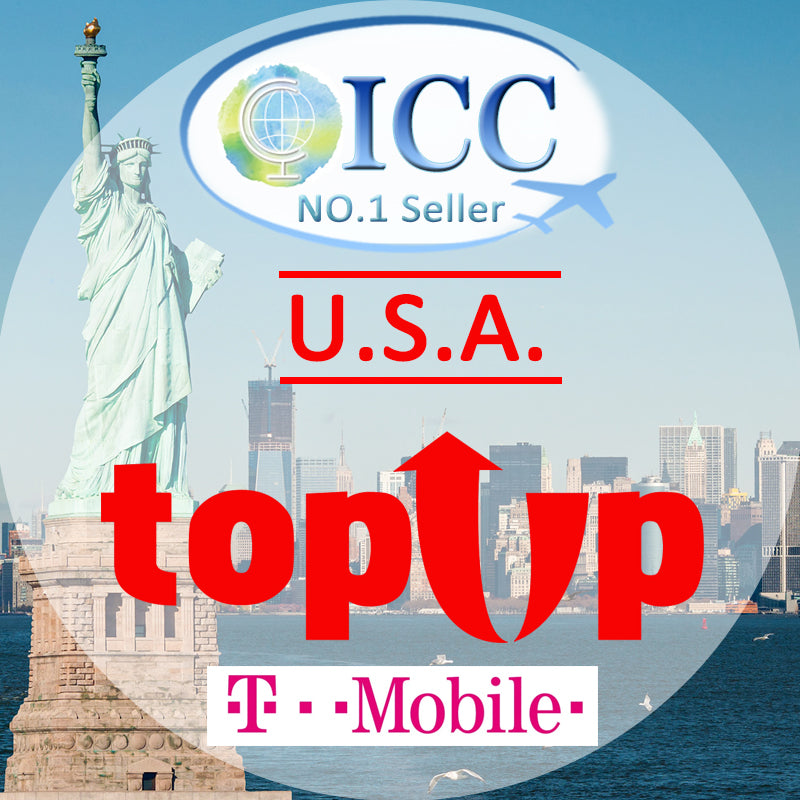 ICC-Top Up- USA 7- 30 Days Unlimited 4G Data + Local Call + International Call - T-Mobile