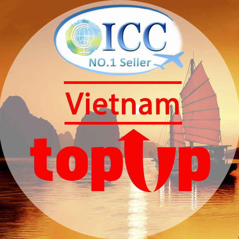 ICC-Top Up- Vietnam 3- 10 Days Unlimited Data