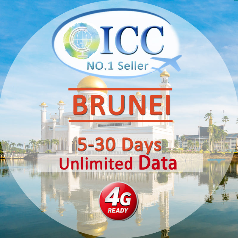 ICC【Brunei Sim Card · 5-30 Days】Unlimited Data
