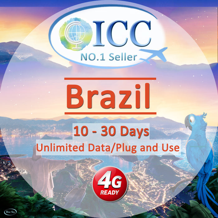 ICC SIM Card - Brazil 5-30 Days Unlimited Data