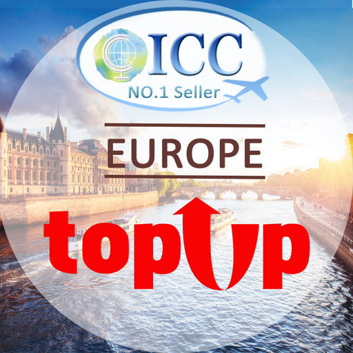 ICC-Top up- Europe 10/15 Days 5GB/6GB 4G Data