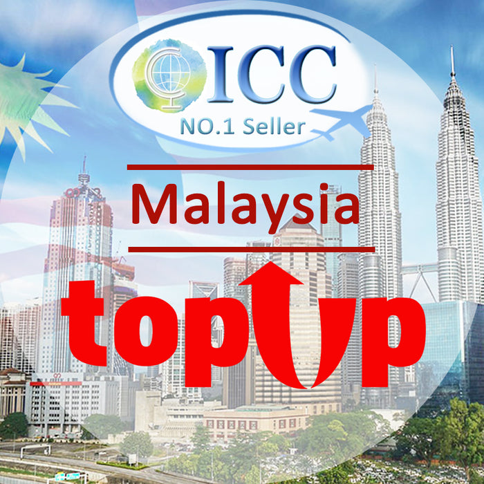 ICC-Top Up- 【Malaysia 3-10 Days】Unlimited Data Plan