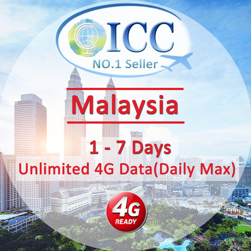 ICC SIM Card - Malaysia 1-10 Days Unlimited 4G Data