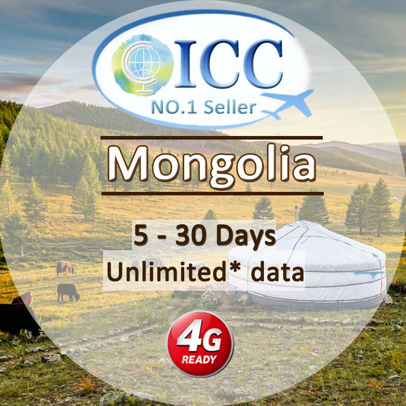 ICC SIM Card - Mongolia 5-30 Days Unlimited Data