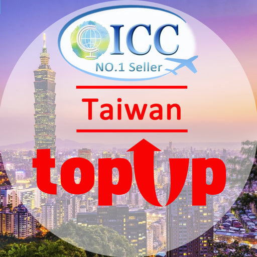 ICC-Top Up- Taiwan 3-10 Days Unlimited Data