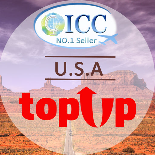 ICC-Top Up- 【USA 7- 30 Days】Unlimited data