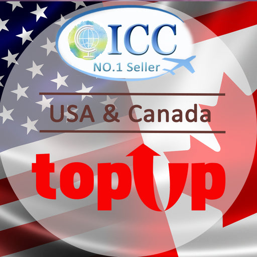ICC-Top Up- USA & Canada 7- 30 Days Unlimited Data