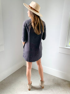 Unforgettable Tunic Top/Dress Charcoal