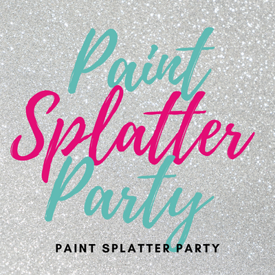 Book Paint Splatter Party