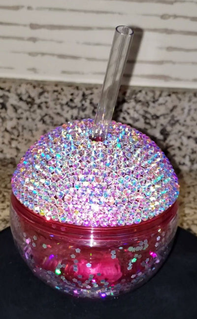 12oz Party Ball Tumbler w/Glass Crystals - KandiSparklez
