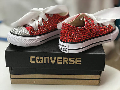 Toddler Full Bling Converse - SHOE INCLUDED - KandiSparklez