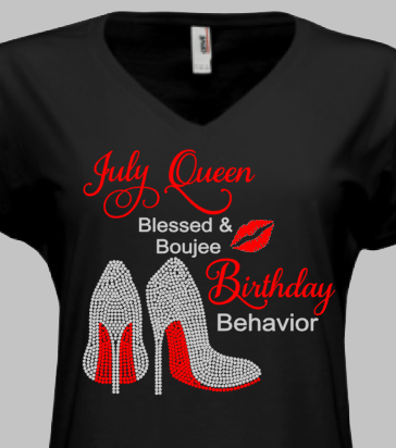 Blessed & Boujee Birthday T-Shirt - KandiSparklez