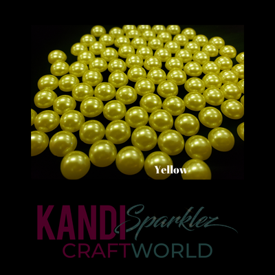 Yellow Flat Pearls - KandiSparklez