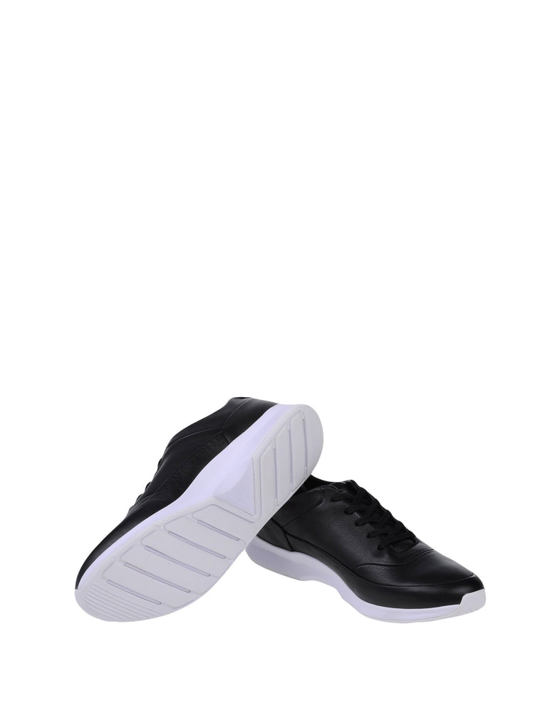 Lacoste Black Low-Top Leather Sneakers