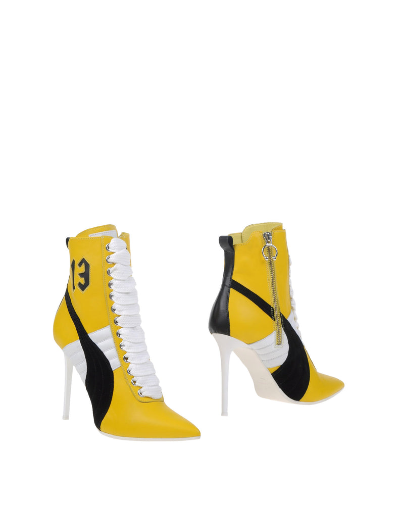 Fenty Puma By Rihanna Yellow Leather Ankle Boots