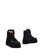 Fenty Puma By Rihanna Black Leather Lace Up Boots
