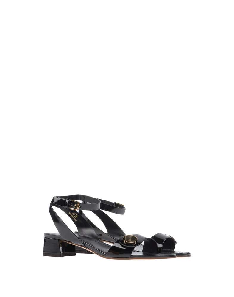 Tod's Black Leather Buckle Sandals