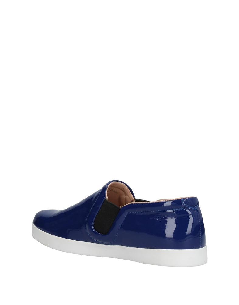 Emporio Armani Blue Low Top Leather Sneakers