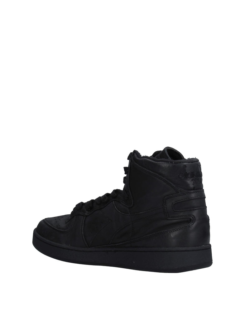 Diadora Heritage Black High Top Leather Sneakers