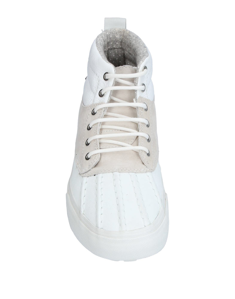 Vans White High Top Leather Sneakers