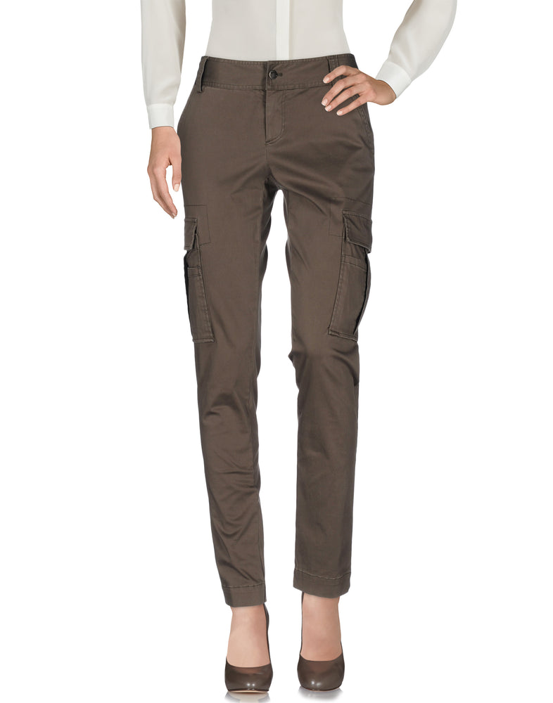 Alice + Olivia Khaki Straight Leg Casual Trousers